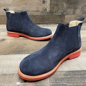 Boden Booties Ankle Boots Suede 37 Navy